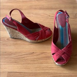 Bakers Red Socialite Wedges